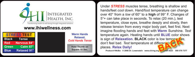 custom plastic business stress card